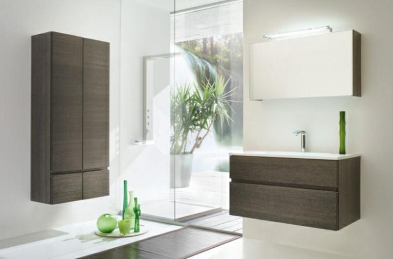 hängende Badezimmerschränke Holz