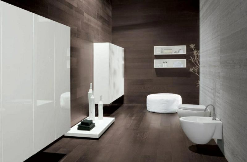 Badezimmerschrank weiß Hochglanzoberflächen