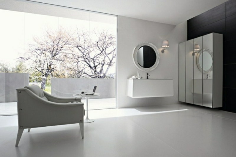 Badezimmerschrank schwebend stilvoll