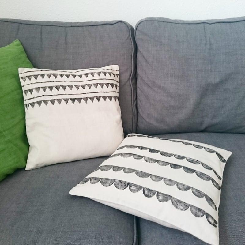 Kissen bedrucken Wohnzimmer Sofa