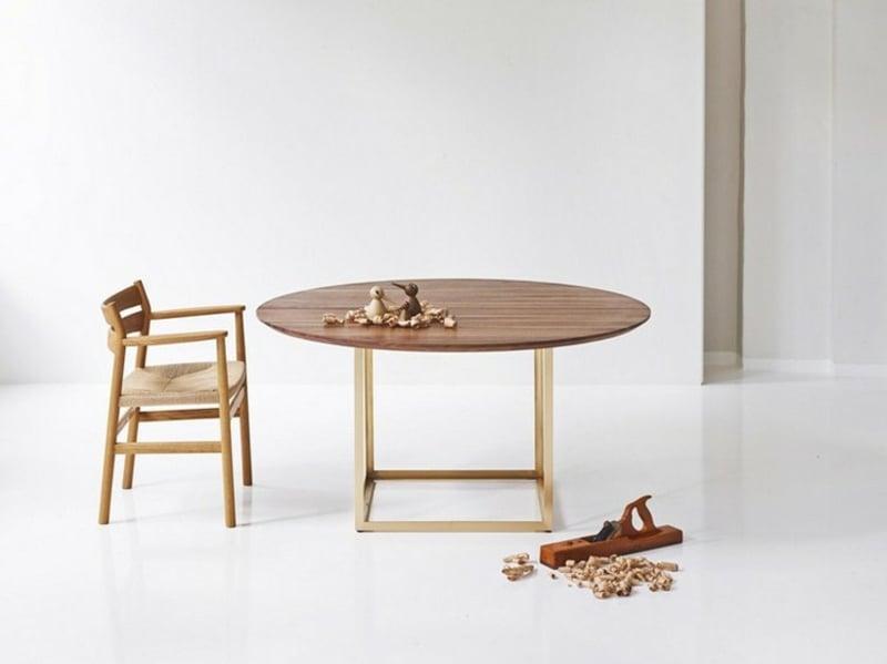 Küchentisch rund Holz simpel praktisch