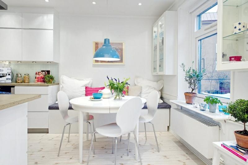 runder Esstisch in Weiß herrlicher Look