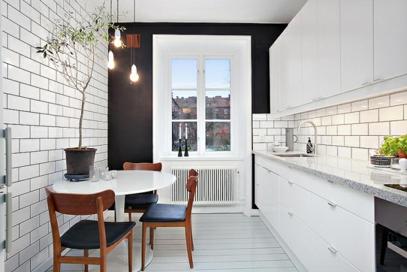 Küchetisch praktisch platzsparend runde Form