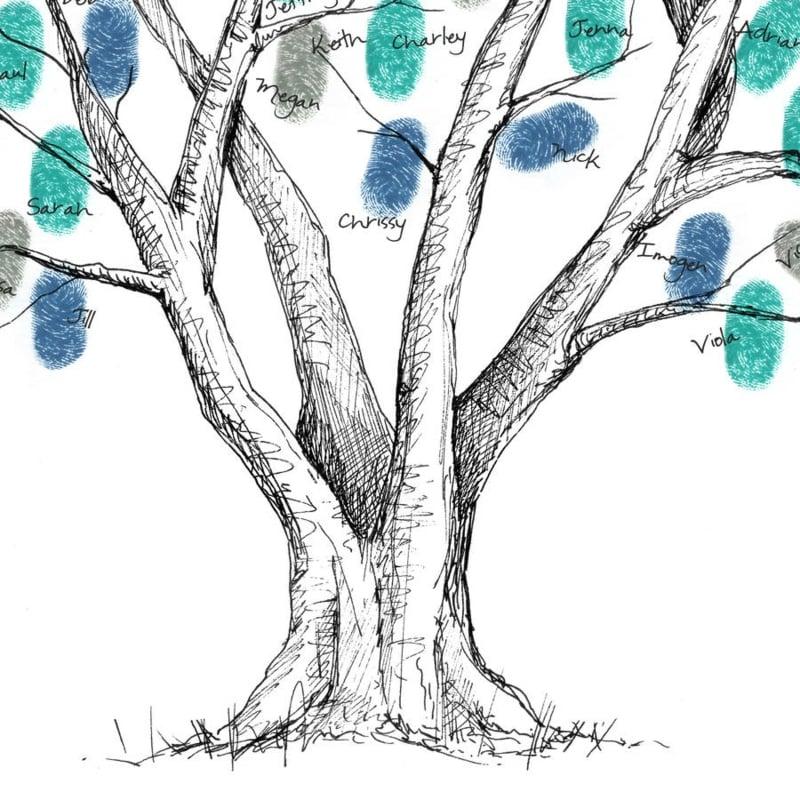 Fingerabdruck Baum tolle Idee