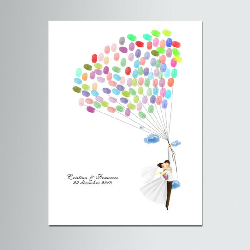 Fingerabdrücke Luftballons tolle Idee kreativ