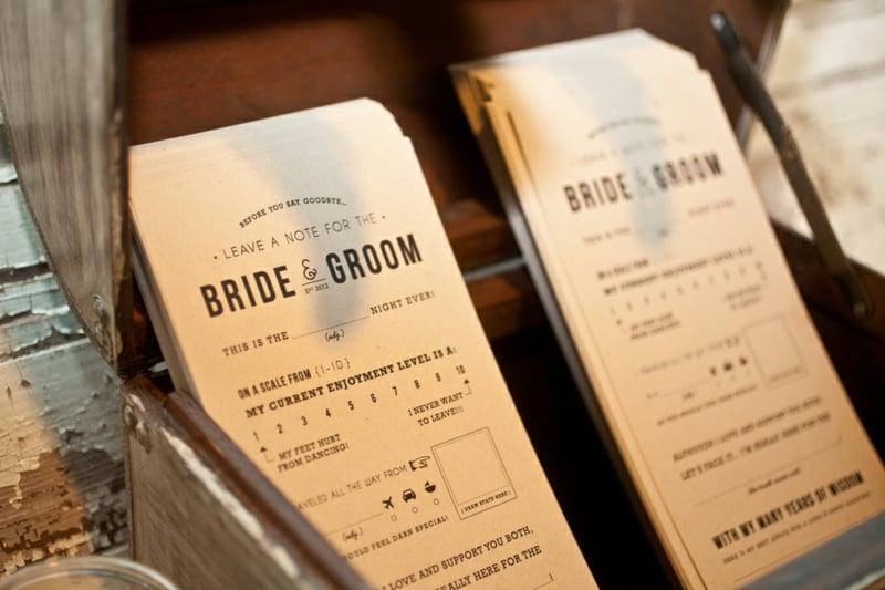 Tipps geben Brautpaar Fragebogen