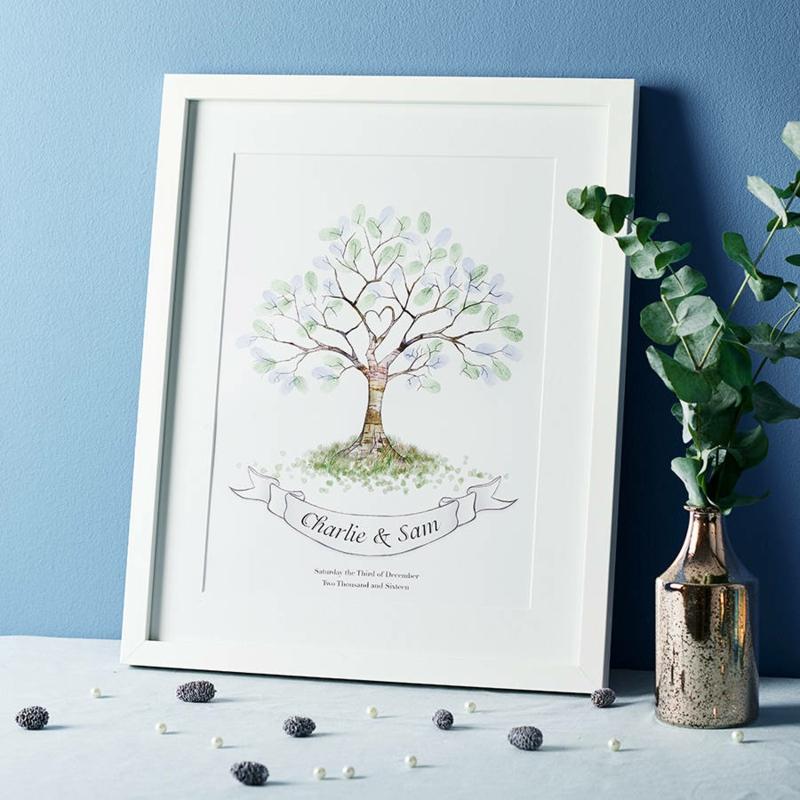 Fingerabdruck Baum herrlicher Look