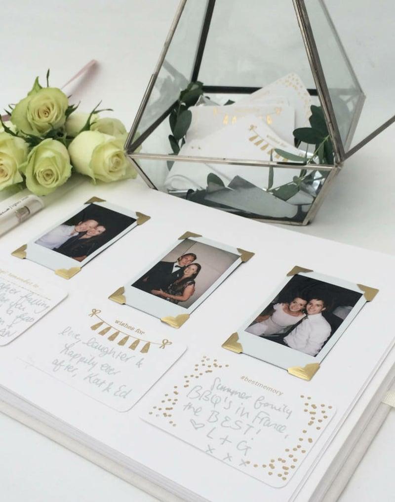 Gästebuch mit Fotos personalisiert kreativ