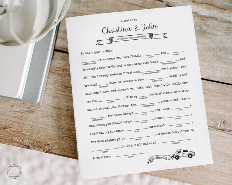Gästebuch Hochzeit Vorlage Guest Lib
