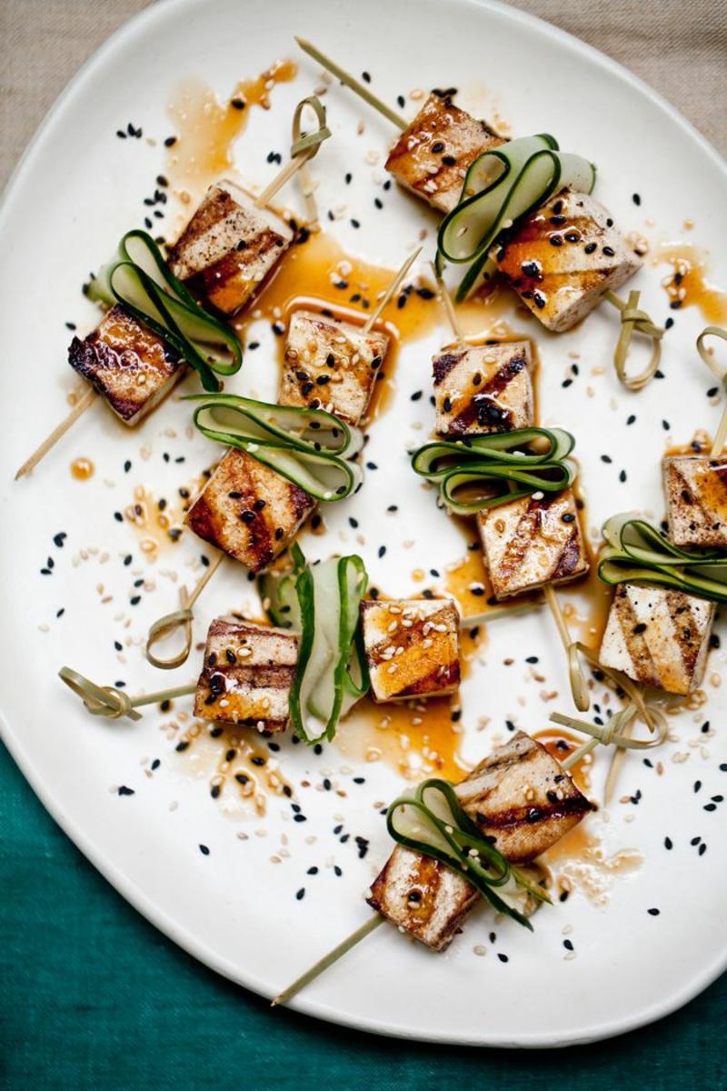 Tofu grillen Serviervorschlag