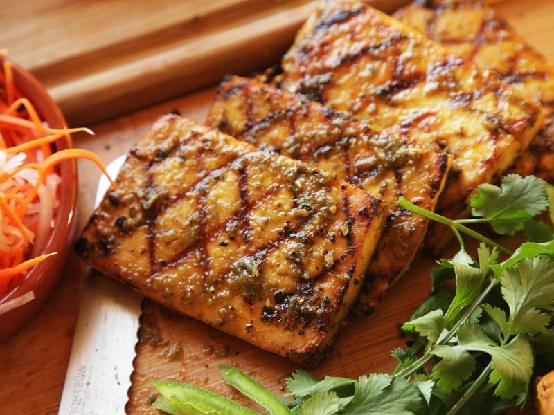 Tofu grillen vegetarische Barbeque