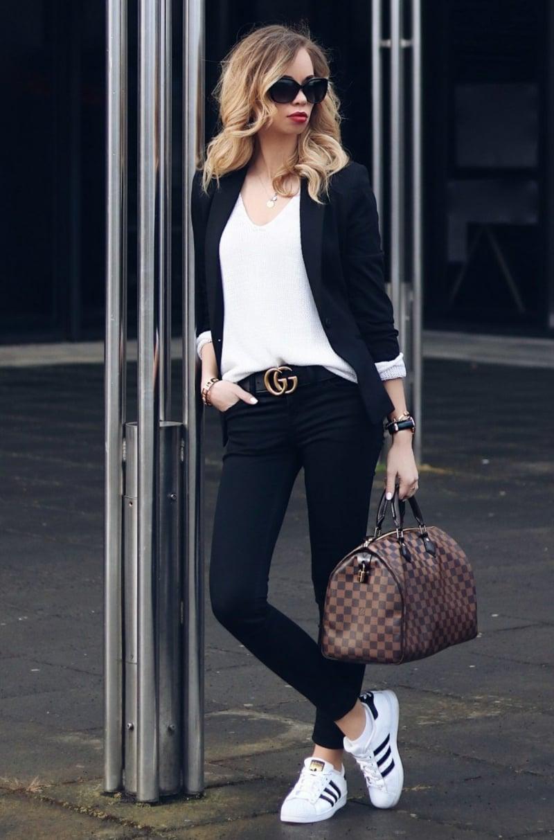 Gucci Gürtel tragen Business Casual Szyle