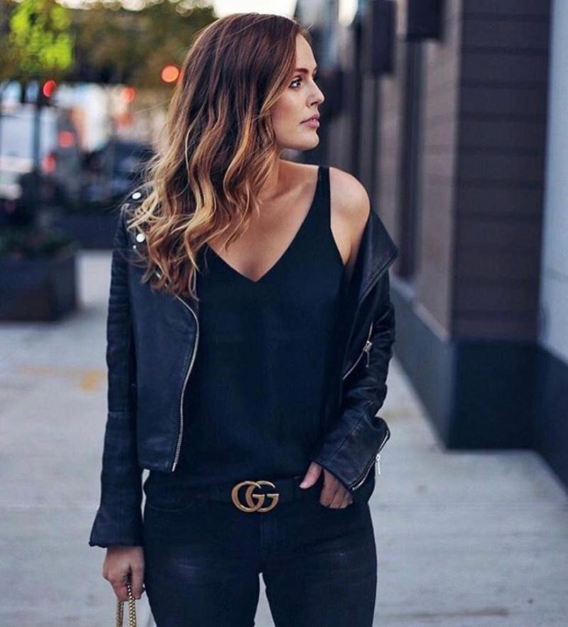 Gucci Gürtel tragen mit Jeans stilvoll