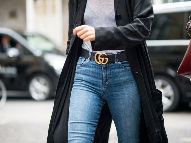 Gucci Gürtel Jeans Weste
