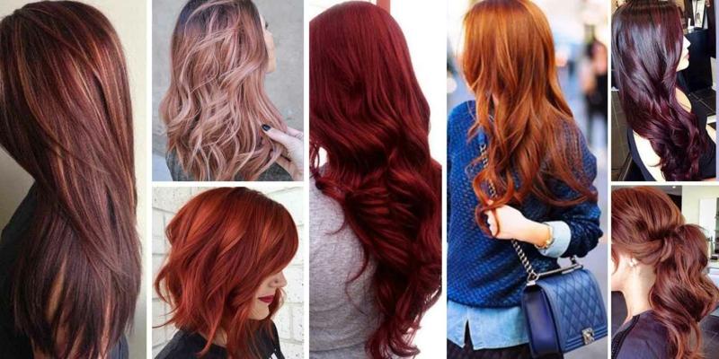 Haare colorieren Rot Blond Braun