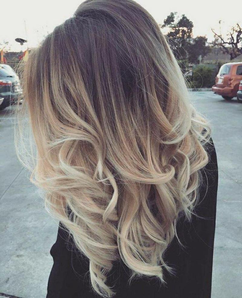 Haare selber färben Balayage DIY