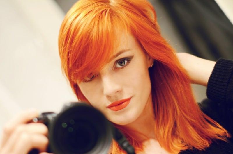 Haare selber färben Rot herrlicher Look