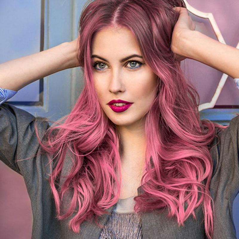 Haare colorieren Pink moderner Look