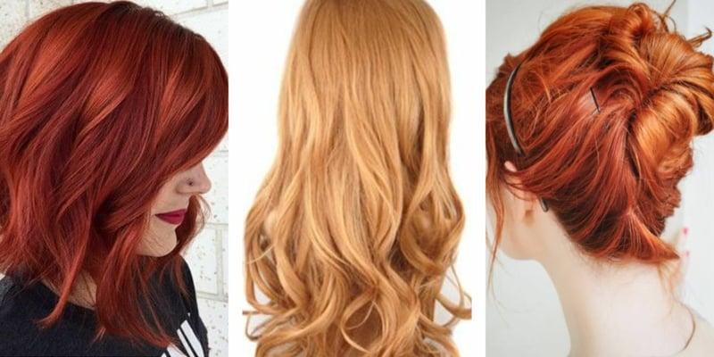 Haare selber färben Rot Goldenblond
