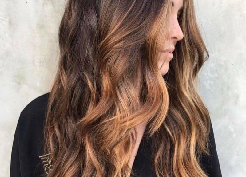 Haare selber färben in Schokoladnbraun