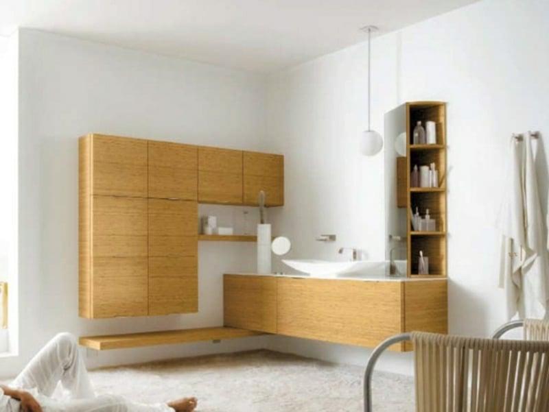 Badschrank Holz modular