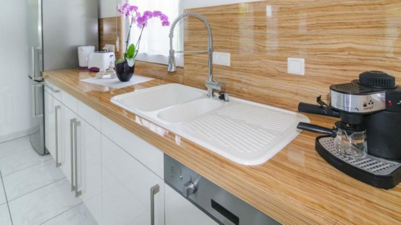Spülbecken eingebaut Keramik Küche