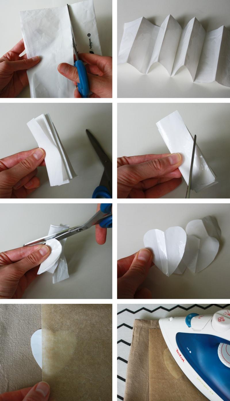 Kissen bedrucken mit Plastiktüten Bilderanleitung