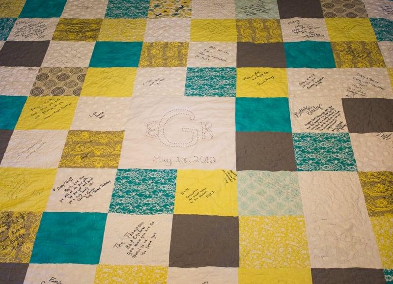 Patchwork Decke Hochzeit originelle Idee