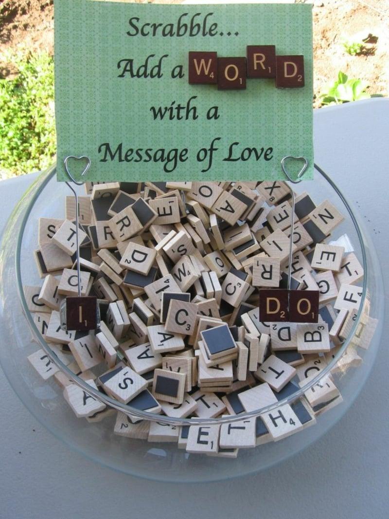 Liebesbotschaft schreiben Scrabble