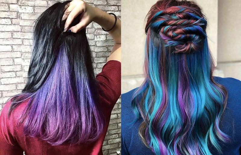 DIY Regenbogen Haare herrlicher Look