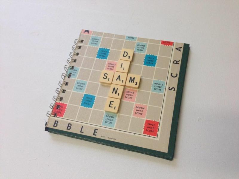Scrabble Gästebuch Hochzeit romantisch