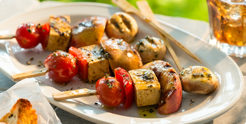 vegetarische Spieße Barbeque