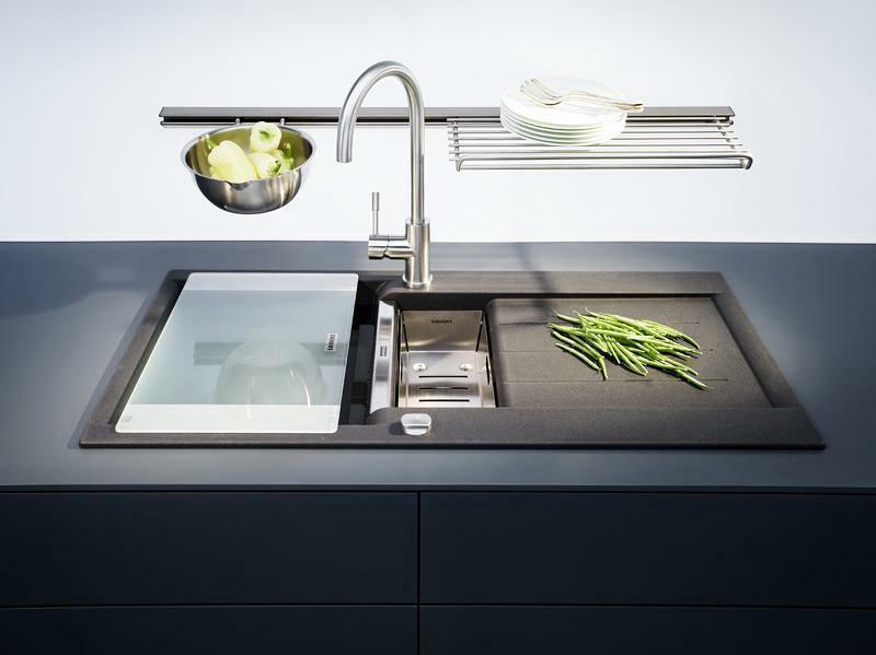 Küchenspüle aus Granit moderner Look