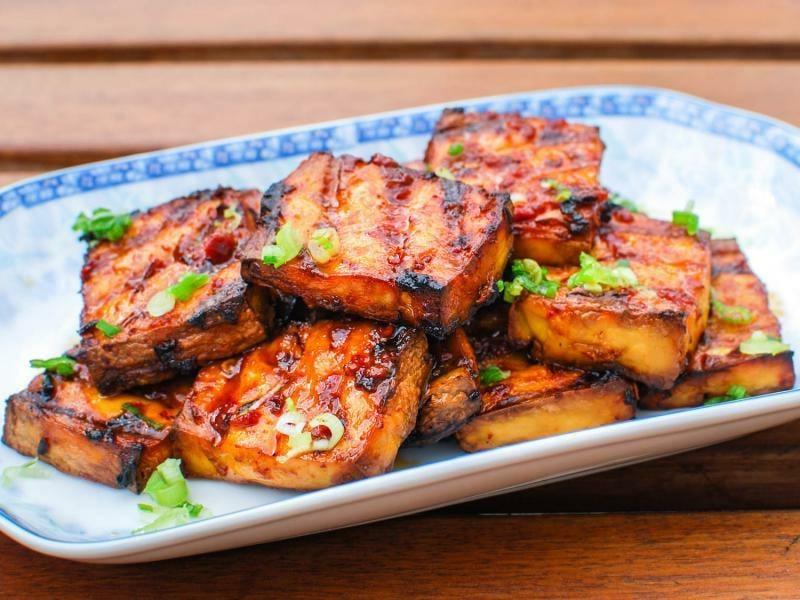 Tofu grillen und servieren Ideen