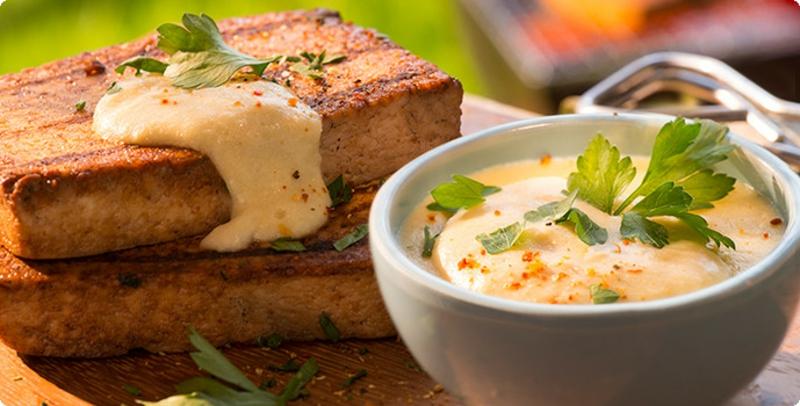 Tofu mit Dip super lecker