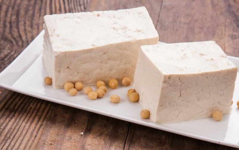 veganer Käse Tofu