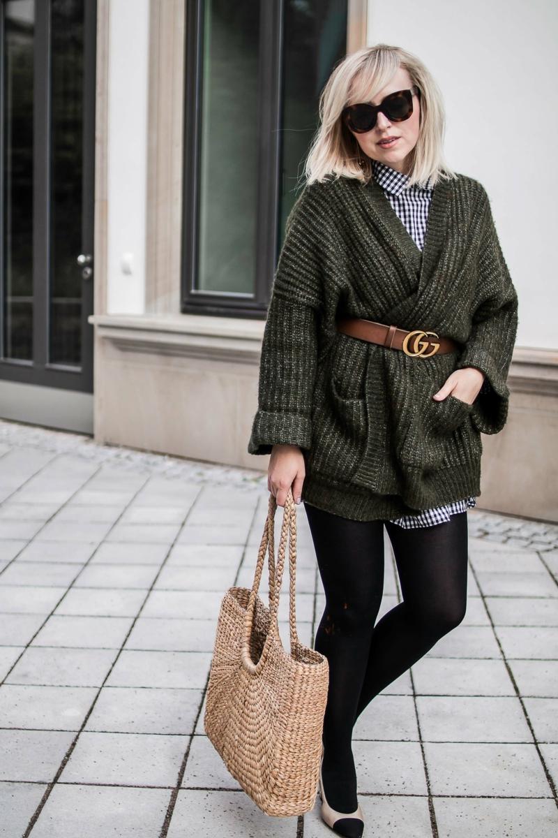 Gucci Gürtel tragen Winter Outfit