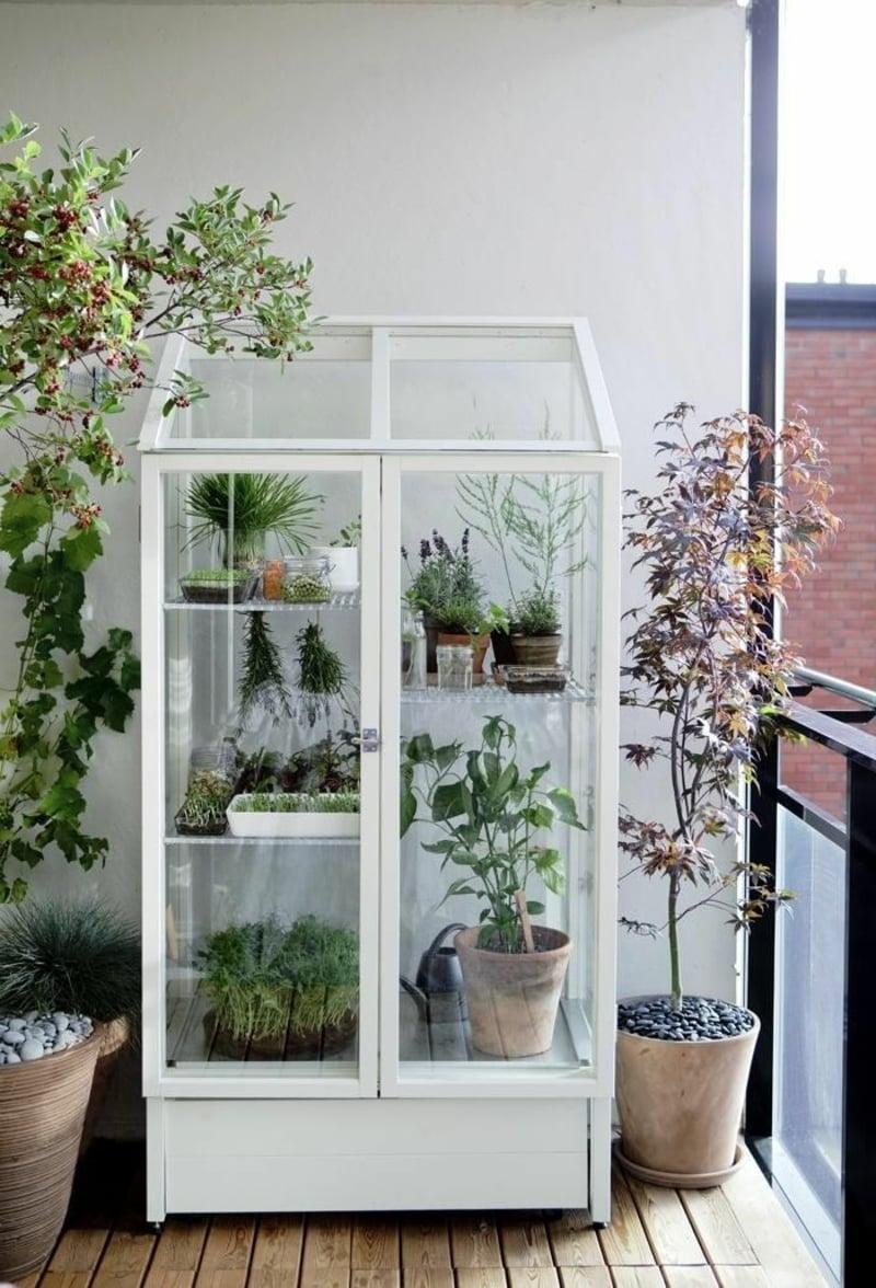 Gewächshaus klein Balkon für Blumen und andere Pflanzen