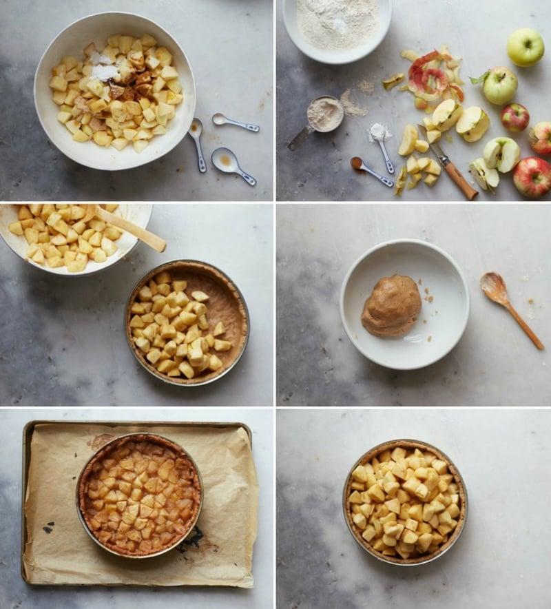 veganer Apfelkuchen DIY Bilderanleitung