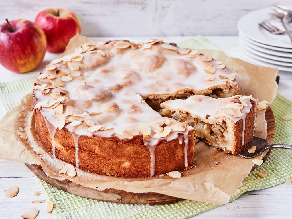 Apfelkuchen mit Zuckerguss veganes Rezept