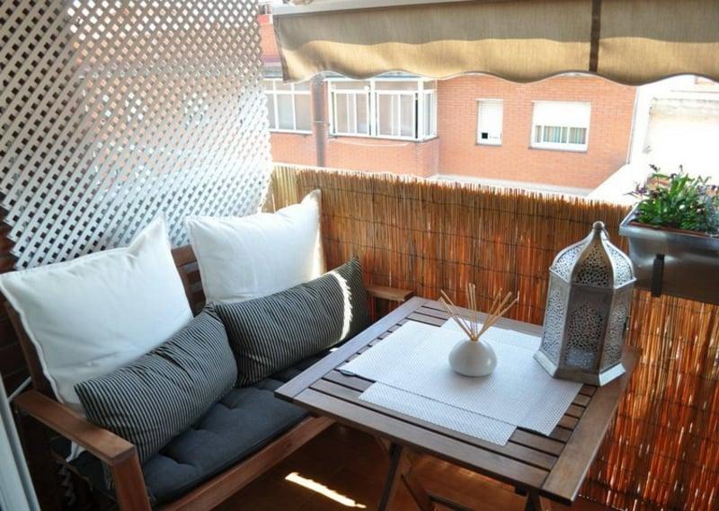 Sonnenschutz Balkon Bambusmatte Markise