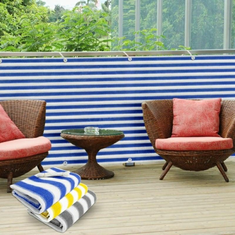 Sonnenschutz Balkon ohne Bohren Balkonbespannung
