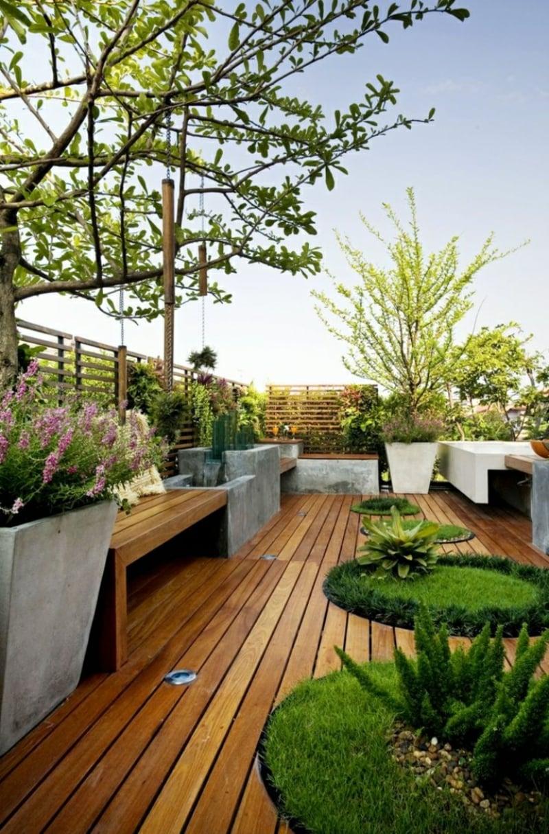 Balkonpflanzen gemütliches Ambiente