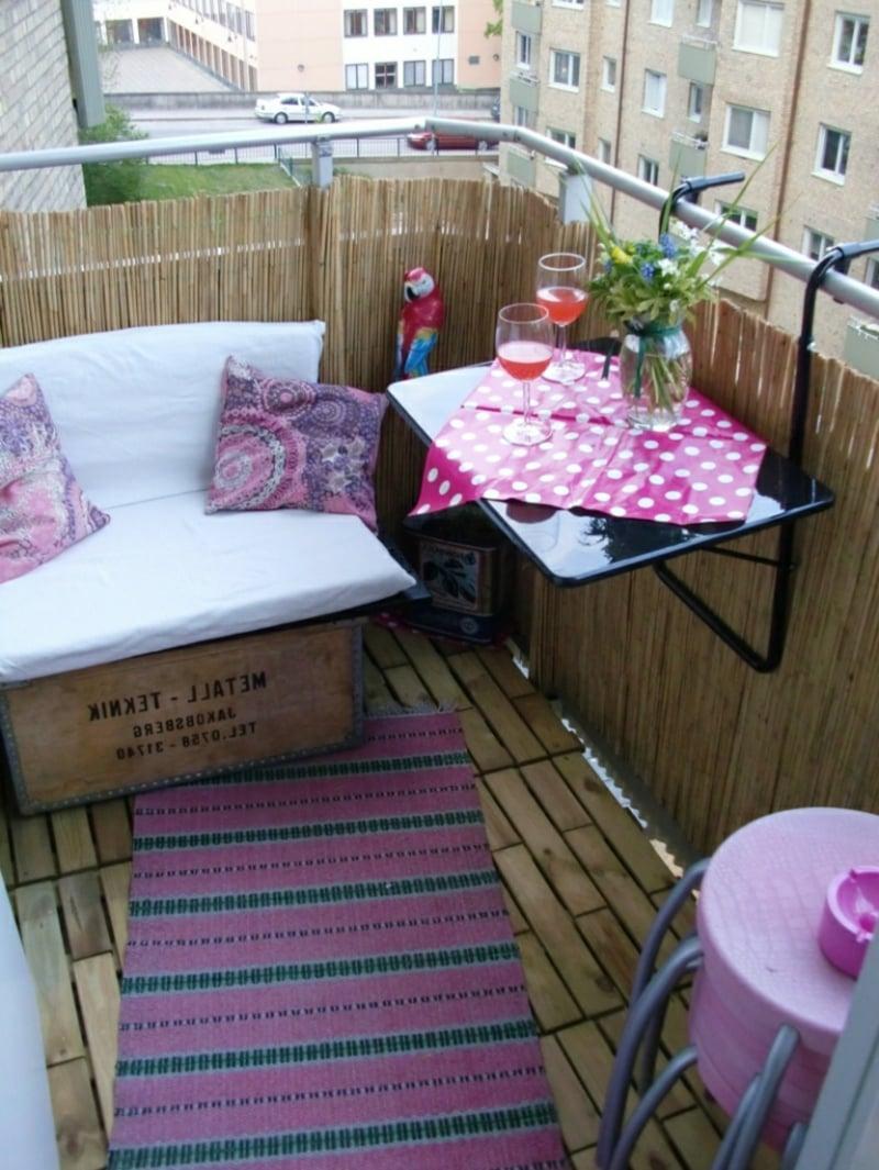 Sonnenschutz Balkon Bambusmatten Vorteile