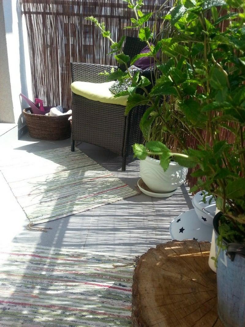 Bambusmatten Balkon Sicht- und Sonnenschutz