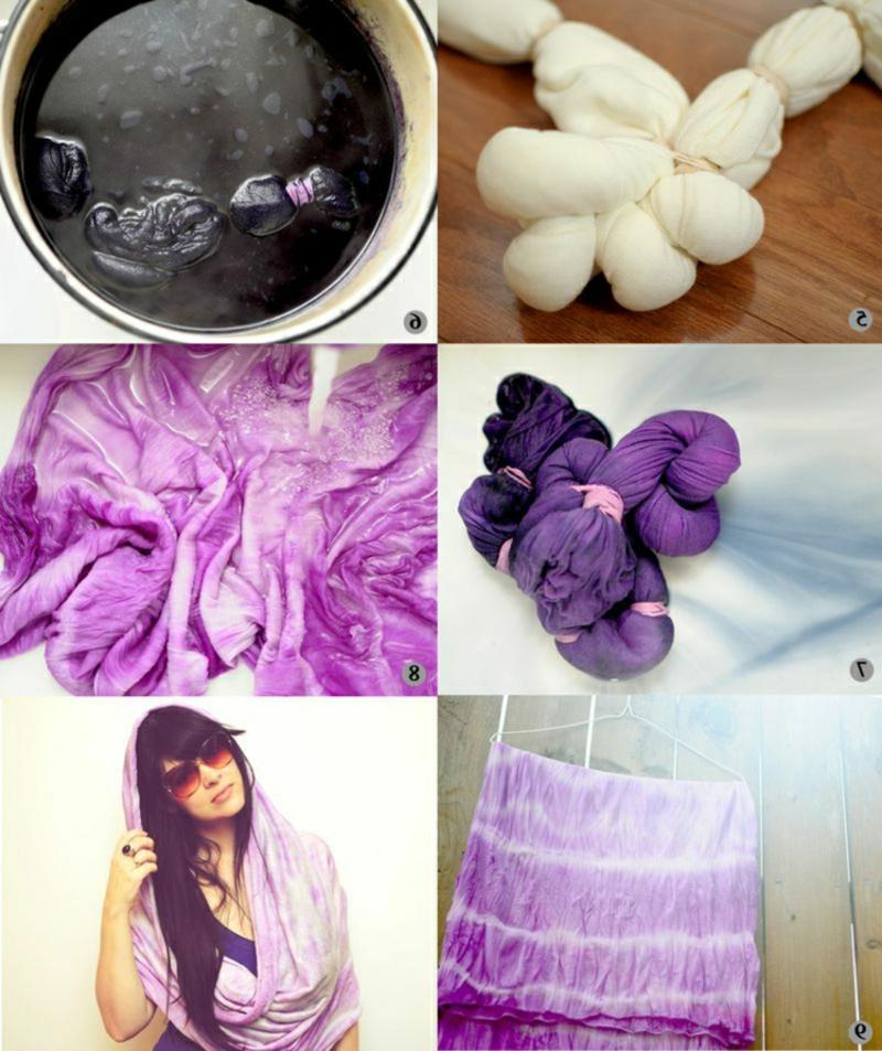 Streifen selber machen Batik