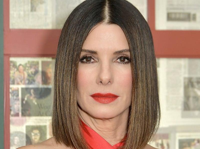 Glatte Haare ohne Haarglätter Sandra Bullock