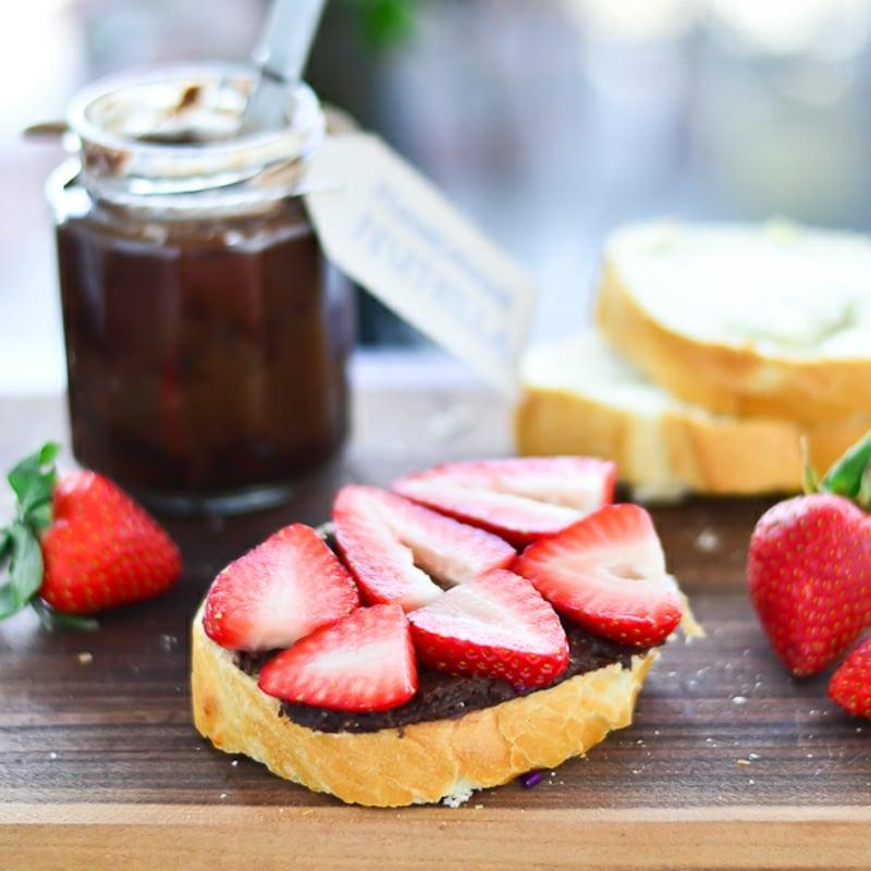 Brotaufstrich Schokolade Erdbeeren