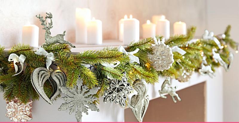 Kaminsims festlich dekorieren