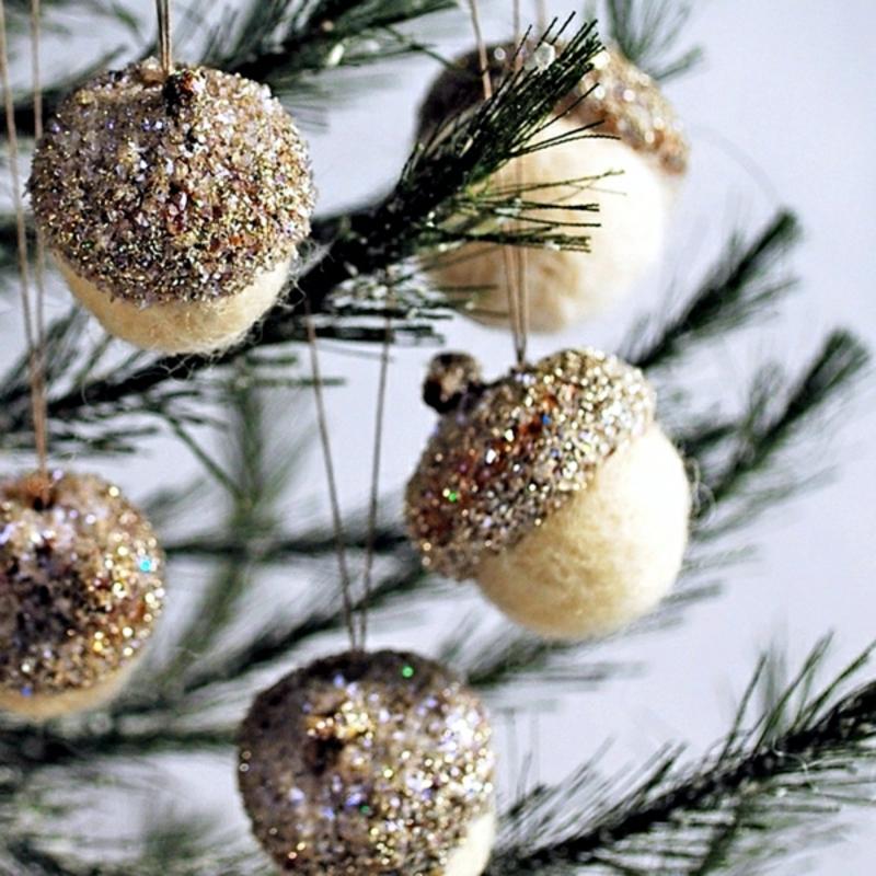 Eicheln selber machen Weihnachtsbaum